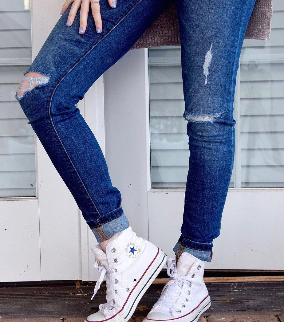 shoe girl woman leg jeans spring 34249