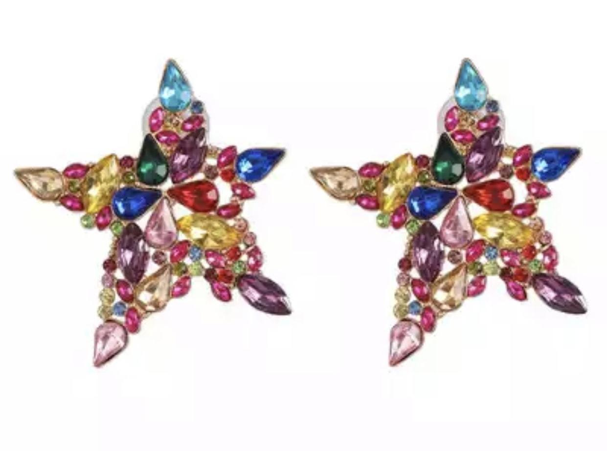 Pendientes Estrella Multicolor